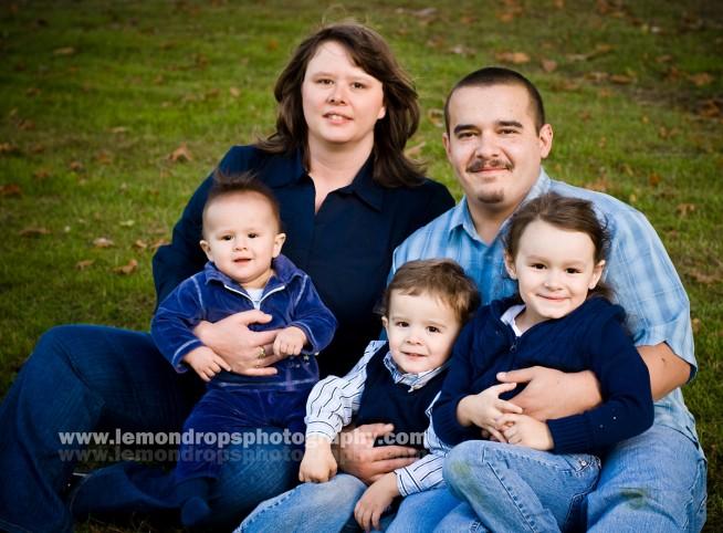 clark family formal photo