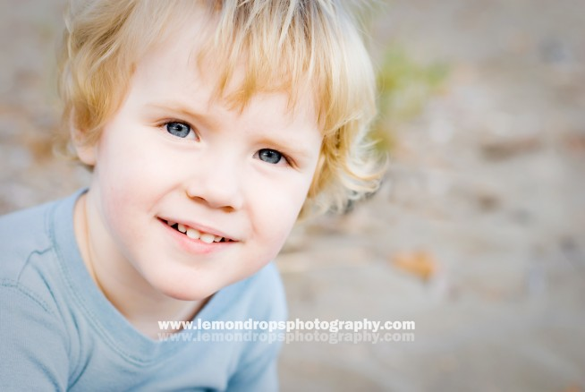 blond two year old boy