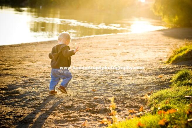 little guy running